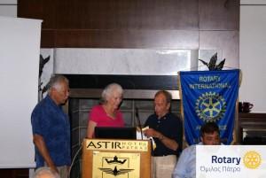 Οι ροταριανοί Gilbert Garcia και Martha Correa de Garcia στο Ροταριανό Όμιλο Πάτρα