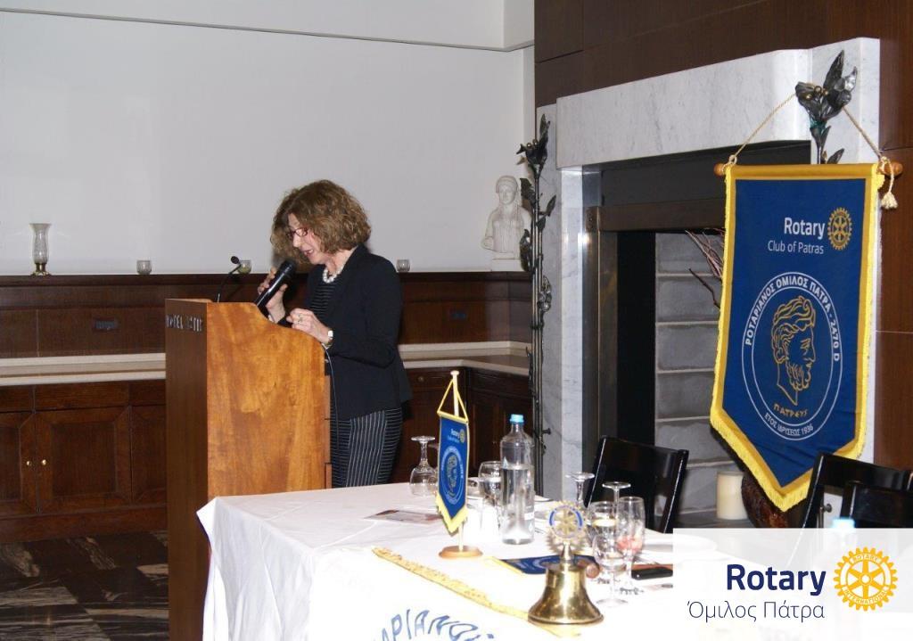 Η ομιλήτρια κ. Σιβροπούλου στο βήμα